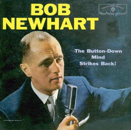 "original vintage album cover. BOB NEWHART LP "" The Button-Down Mind Strikes Back"" Album cover(J.P. Roth Collection) 212-556-3908 jproth@nytimes.com ----- 30NEWHART"